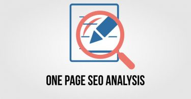 one page seo analysis